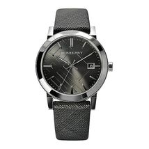 【BURBERRY】The City BU9024 Large Check Black Dial Unisex Watch - 38mm - Warranty - $298.00
