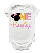 Minnie Mouse First Birthday One Piece Bodysuit - Personalized Minnie Mou... - $11.99+