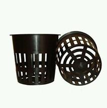 Pots (25) Round Heavy Duty Net Cups LIP Design Hydroponics Slotted Mesh ... - $28.04