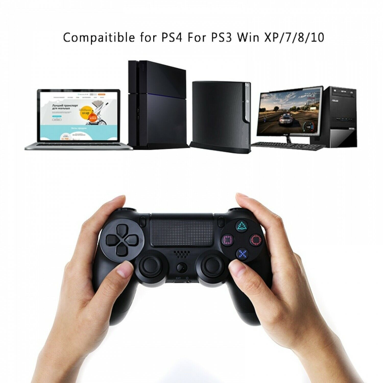 Bluetooth Wireless Joystick for PS4 Controller Fit For PlayStation 4 Console