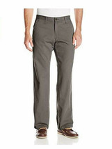 Lee Mens Weekend Chino Straight Fit Flat Front Pant 42X32, WALNUT, NEW - $28.49