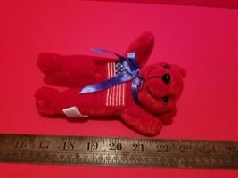 Toy Holiday Plush Red Teddy Bear Patriotic Stuffed Animal US Flag Fourth... - $5.69