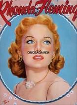 VINTAGE UNCUT 1954 RHONDA FLEMING PAPER DOLLS~#1 REPRODUCTION~NOSTALGIC/... - $18.99