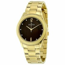 Skagen Women's Gold Ion-Plated Bracelet Quartz Analog Watch SKW2108 - $68.59