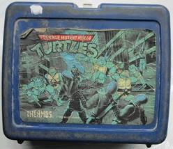 Teenage Mutant Ninja Turtles Lunchbox 1989 Plastic No Thermos Vintage Lu... - $4.85