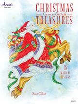 Christmas Cross Stitch Treasures 18 designs cross stitch booklet Joan El... - $12.60