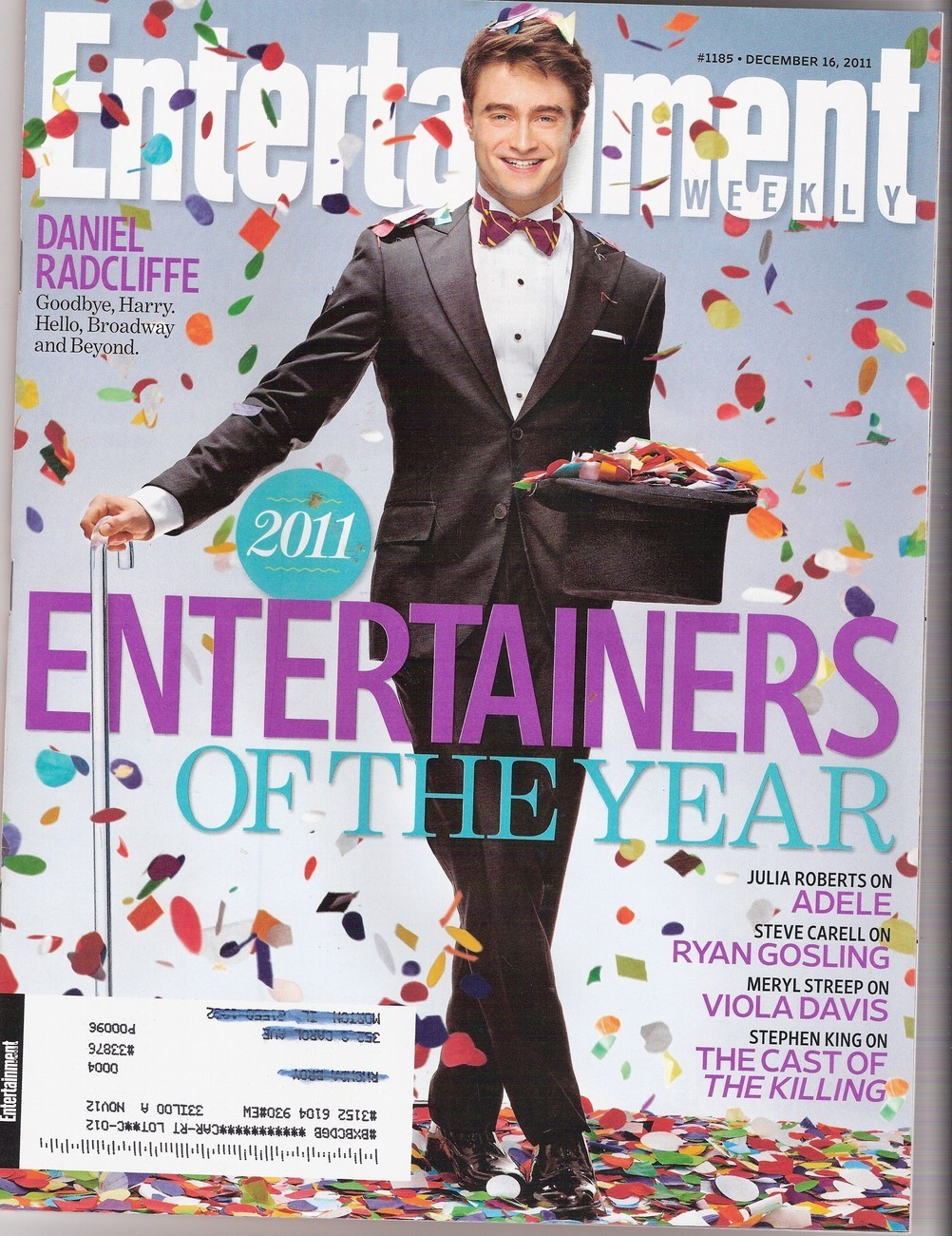 2011 Entertainers of the Year - Entertainment Weekly (Dec. 16, 2011)