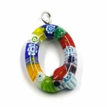 Pendant, Letter Glass Murano, Initial Q, Length 2.5 CM, Murrine - $39.74