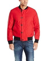 NWT Nautica Men's Long Sleeve Military Inspired Bomber Jacket, Red Size Small - $52.87