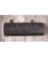 Country new hanging black punched tin candle box /storage tin / nice - $28.00