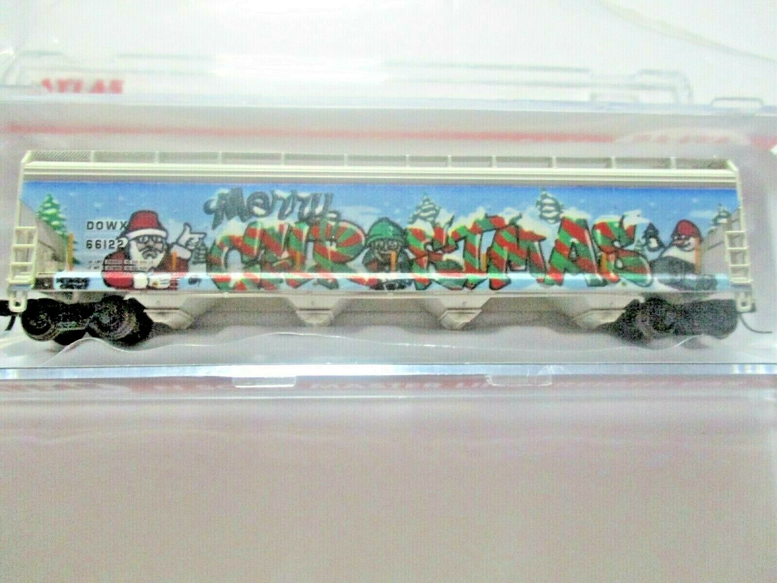 Atlas # 50005645 (Chrstmas Graffiti) ACF 580 Plastics Hopper #66122 N-Scale