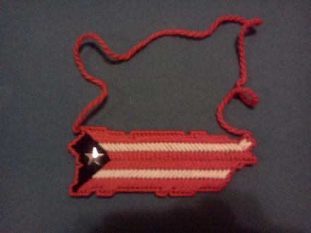 Puerto Rico Map Flag