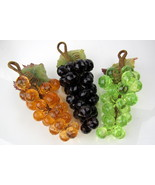 Arylic Grape Bunch Set in Purple, Amber and Green - $22.00
