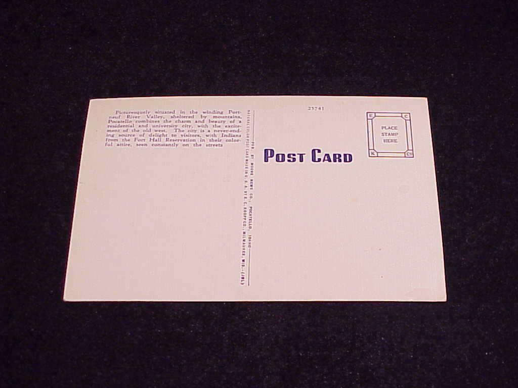 Union Depot, Pocatello Idaho Linen Postcard, no. 25741, unused