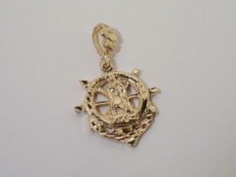 14k Gold Gep Our Lady of Guadalupe Ship wheel  Pendant Lifetime Guarantee - $24.95