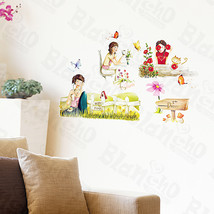 Leisure Time-2 - Wall Decals Stickers Appliques Home Decor - $6.49