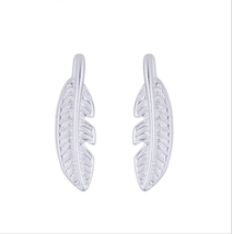 5 pairs of  Feather Silver Plated Stud Earring  Stud(NED210C) - $12.50