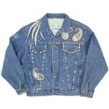 VTG 80s LA Gear Womens Size Medium Embellished Bling Western Jean Jacket - $78.20