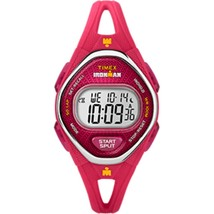 Timex IRONMAN® Sleek 50 Mid-Size Silicone Watch - Pink - $67.07