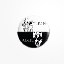Dishwasher Magnet Clean /Dirty Round Adorable retro-style American House... - €4,19 EUR