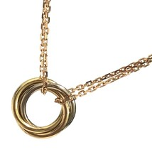 Cartier Trinity Necklace 18K PG WG YG Necklace USED very good condition ... - $1,148.97
