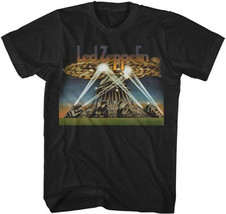 Led Zeppelin-Spaceship- X-Large Black T-shirt - $17.89