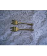 2 Lemon Forks Silverplated Sheffield England Pat 1027708 - $13.00