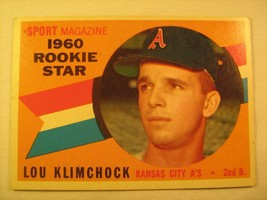 MLB Topps Baseball Card 1960 LOU KLIMCHOCK Rookie All Star #137 [b5e5] - $3.99