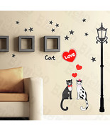 Cat Love - Wall Decals Stickers Appliques Home Decor - $6.49