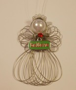"Christmas ""Believe"" Angel Ornament Handmade New - $8.00"