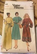 Vogue Sewing Pattern 7202  Misses' Size 14 Dress - $5.89