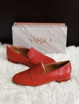 ✨New Sarto By Franco Sarto Kip Leather Loafers Cherry Red Womens Size 8M $120 - $60.31
