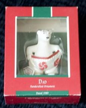 Hallmark keepsake handcrafted ornament Dad 1989 by Hallmark - $24.75