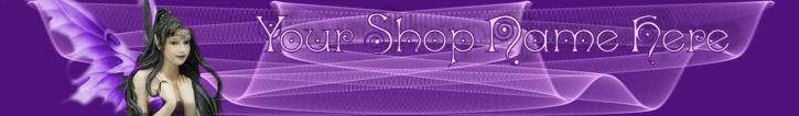 Web Banner Purple Fairy Mystical Swirls Custom Designed 96a