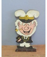 """1950's Hand Painted and Cut Wooden Jolly Sailor Key Holder, 16"""", Signed - $35.53"""