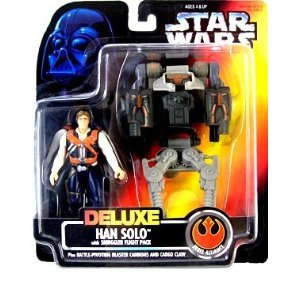 Star Wars Deluxe Han Solo action figure (red card)