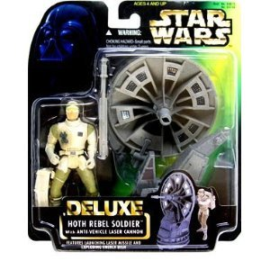 Star Wars Deluxe Hoth Rebel Soldier action figure (green card)