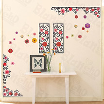 Flower Frame - Large Wall Decals Stickers Appliques Home Decor - $7.99