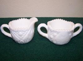 Milk Glass Creamer & Sugar, Westmoreland? - $11.00