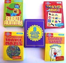 T.S. Shure Activity Travel Games 5 Pack - Doodle Games - Bingo - Mazes -... - $12.17