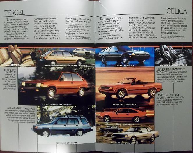 1985 Toyota Cars and Trucks Full Line Brochure