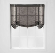 "Threshold Striped Light Filtering Balloon Window Shade Gray/ Stripe 42"" X 63"" - $11.74"