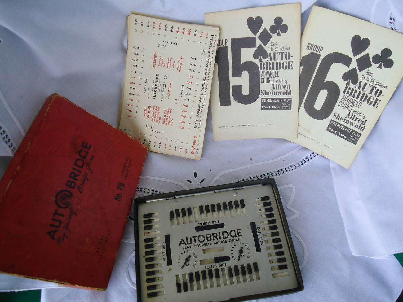 Vintage 1957 Autobridge Auto Bridge Game Deluxe Pocket