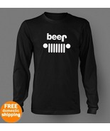 JEEP Beer funny logo long sleeve black T-shirt ... - $19.85