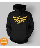 Legend of Zelda Triforce yellow logo Hoodie xbo... - $29.95