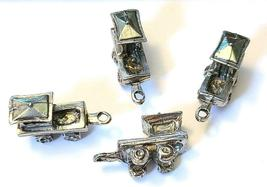 CABOOSE CAR FIGURINE CAST WITH FINE PEWTER - Approx. 1 inch Long  (T159) image 5