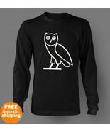 OVOXO white owl long sleeve black T-shirt Octob... - $19.85