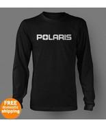 POLARIS white logo long sleeve black T-shirt sl... - $19.85