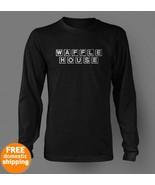 Waffle House white logo long sleeve black T-shi... - $19.85
