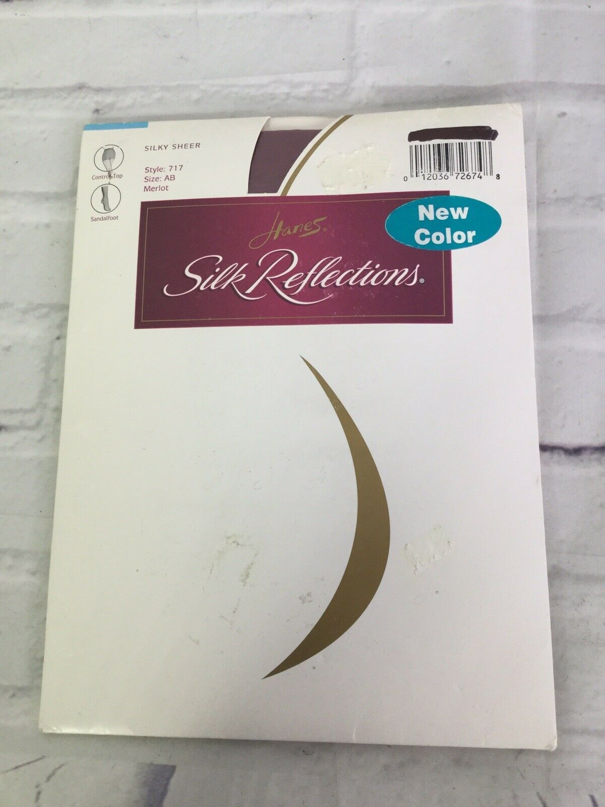 Primary image for Hanes Silk Reflections 717 Silky Sheer Pantyhose Control Top Merlot Red Size AB